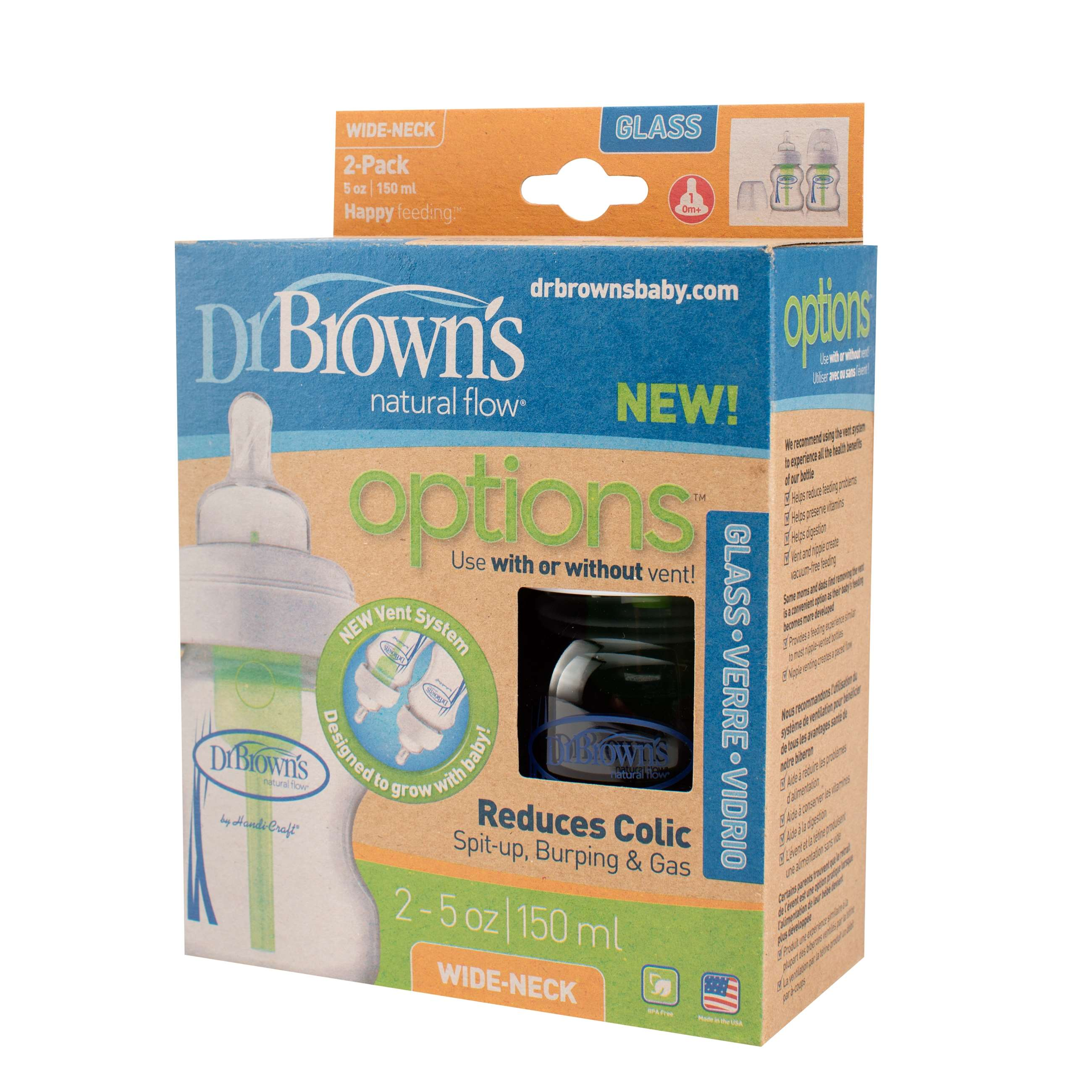 9501 - drbrown glas 150mlx2 options bred hals wb5200_pkg