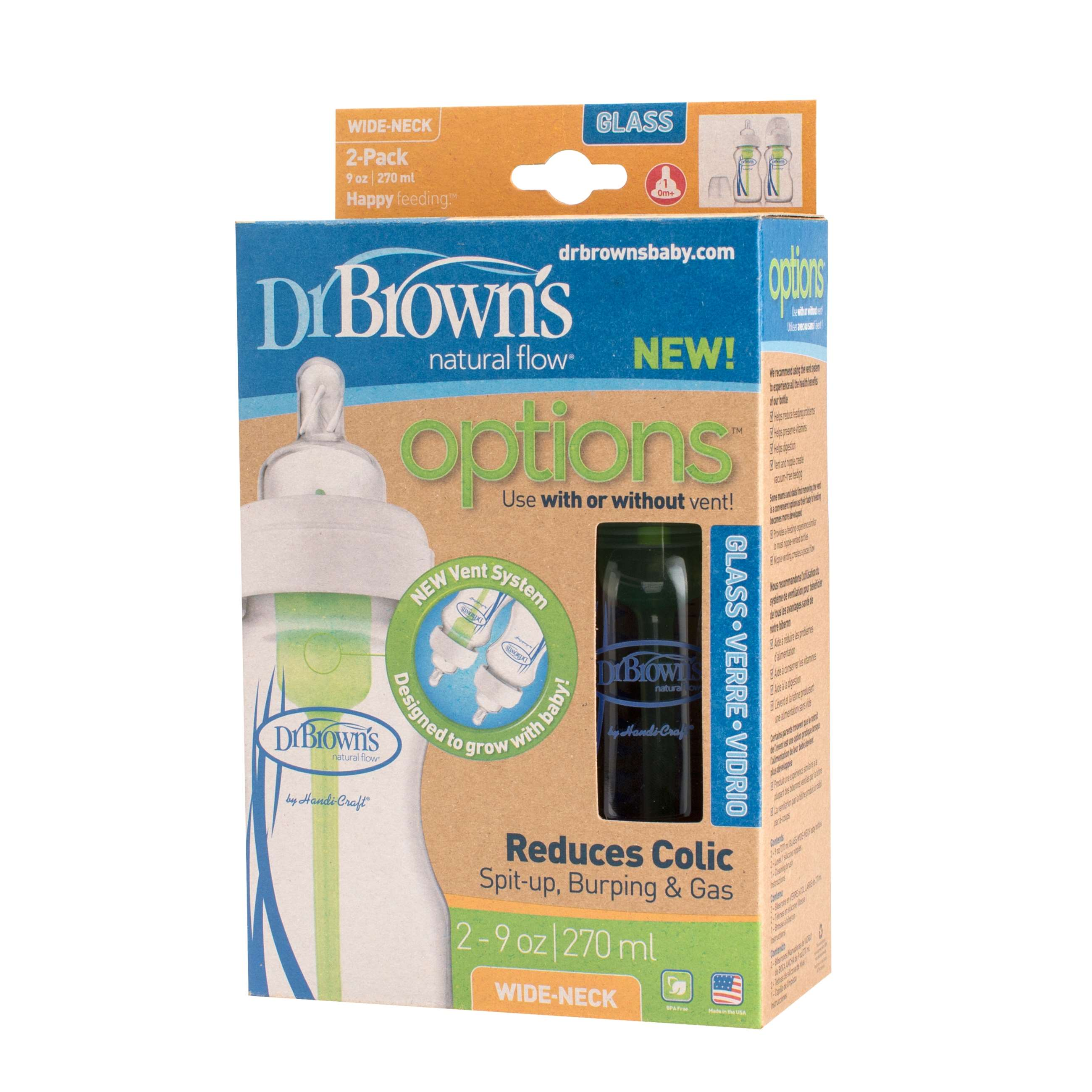 9503 - drbrown glas 270ml options bred hals 2-p wb9200_pkg