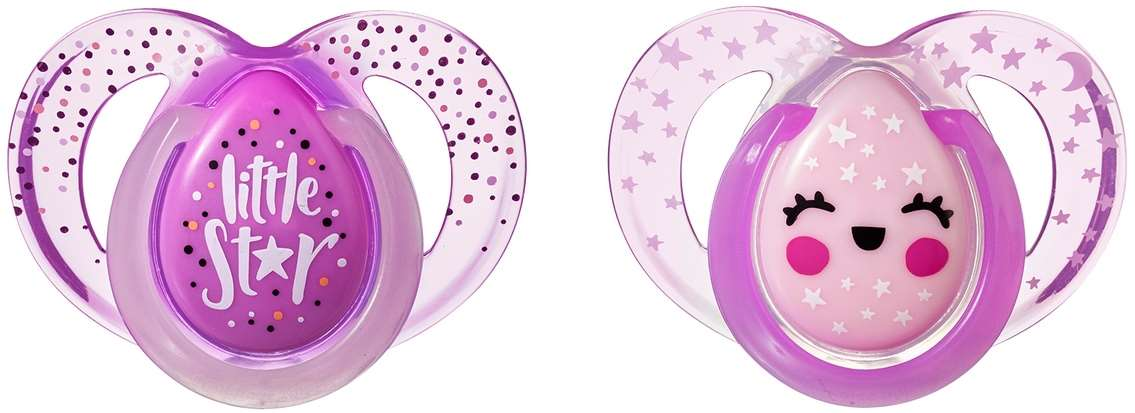 7075 - night time pacifier, 6-18m, little star, product only