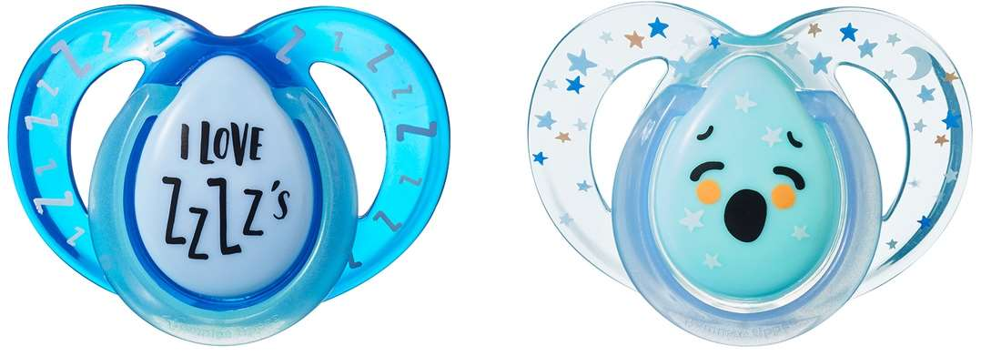 7075 - night time pacifier, 6-18m, love, zzzz, product only