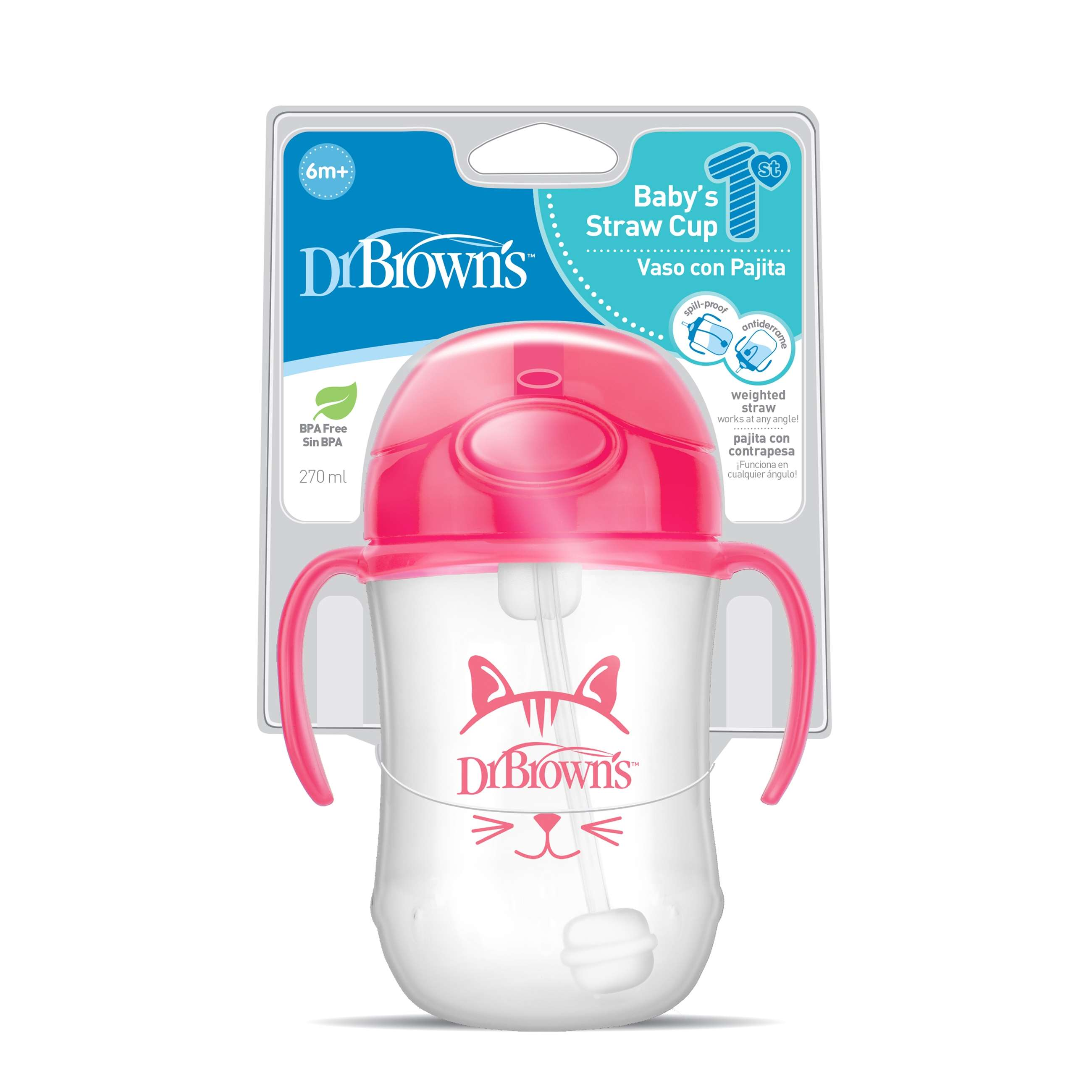 9206--tc91011-intl_pkg_f_baby's_first_straw_cup_270ml_pink_kitty