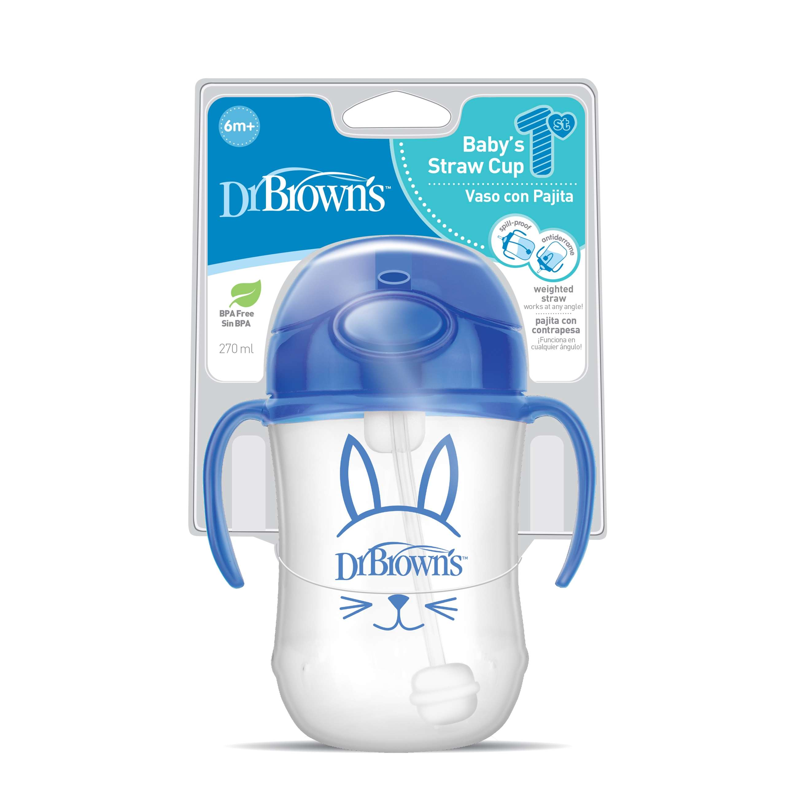 9207--tc91012-intl_pkg_f_baby's_first_straw_cup_270ml_blue_bunny
