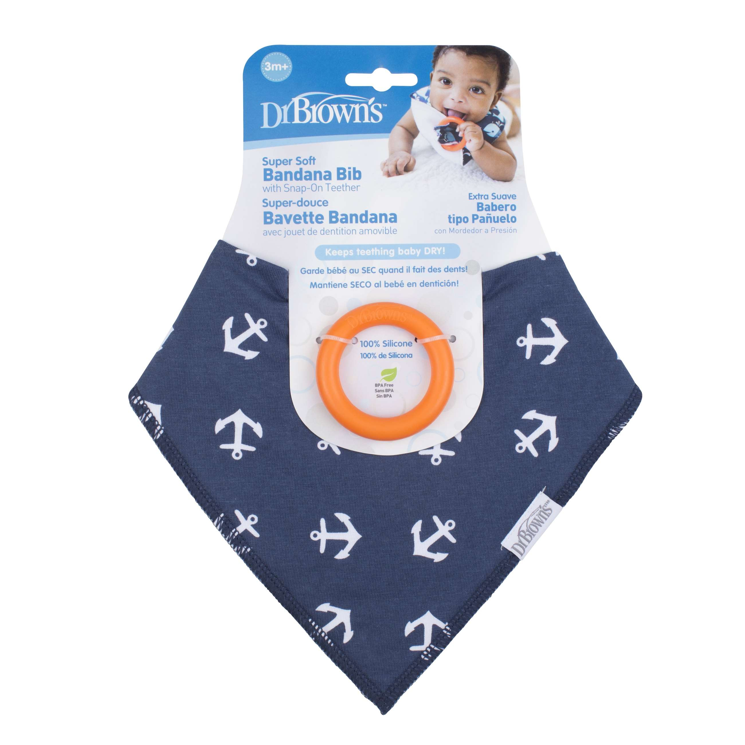 9330 dr.brown bandana bib wteether, 1-p anchors - ac124-p2_pkg