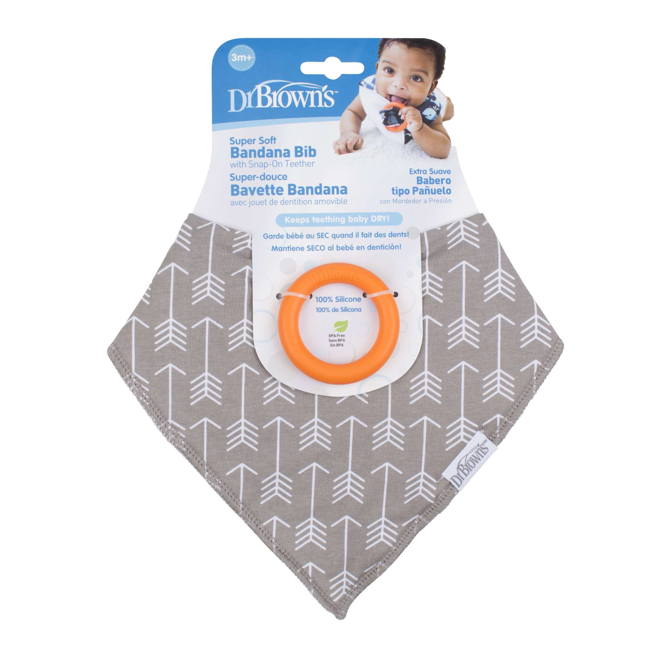 9331 dr.brown bandana bib wteether, 1-p arrows -ac125-p2_pkg